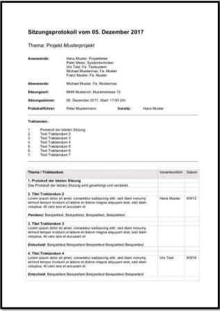 protokollvorlage word - Ubergabeprotokoll Muster Word