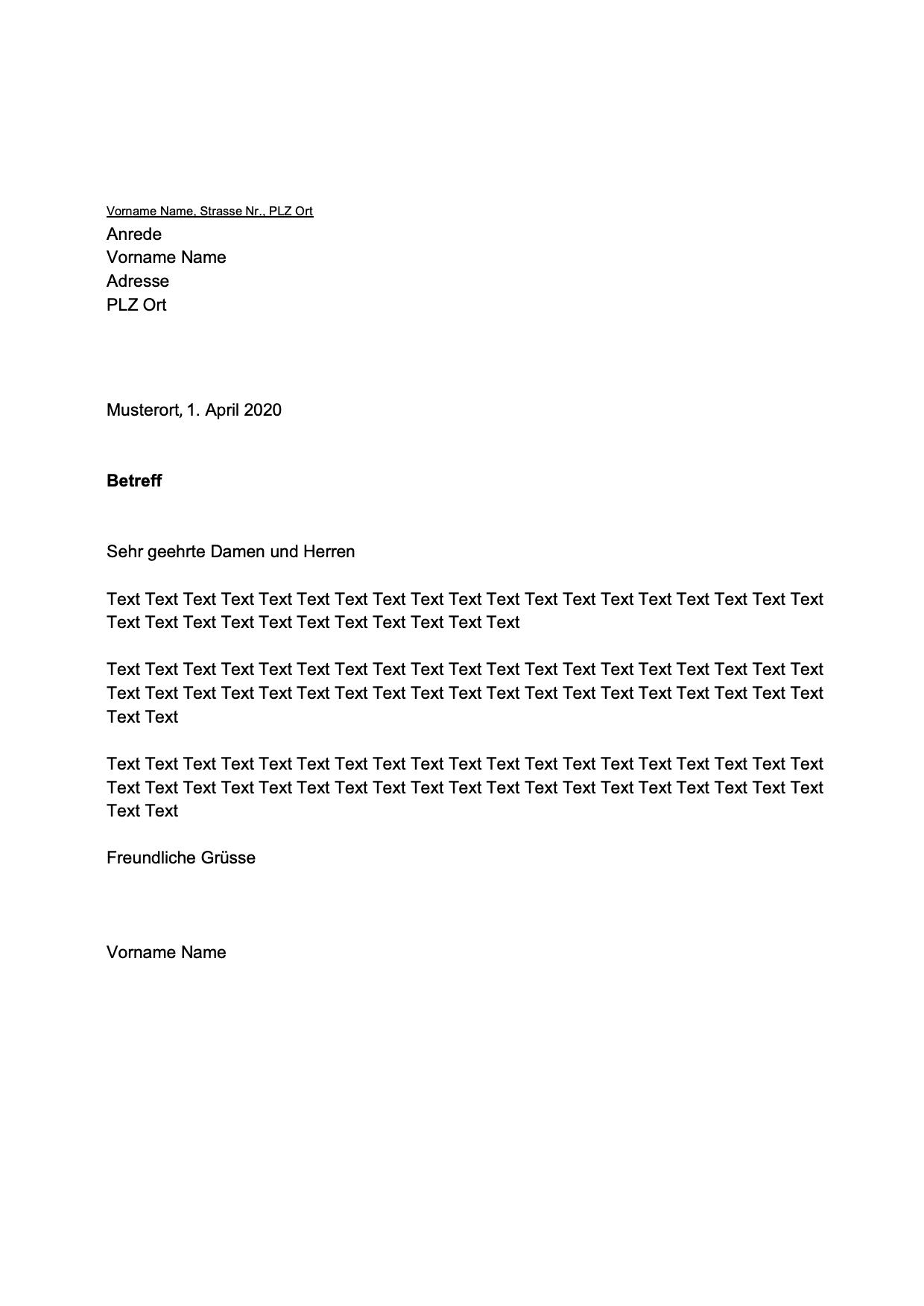 Din 5008 Musterbrief Vorlage Pdf Word Download 15