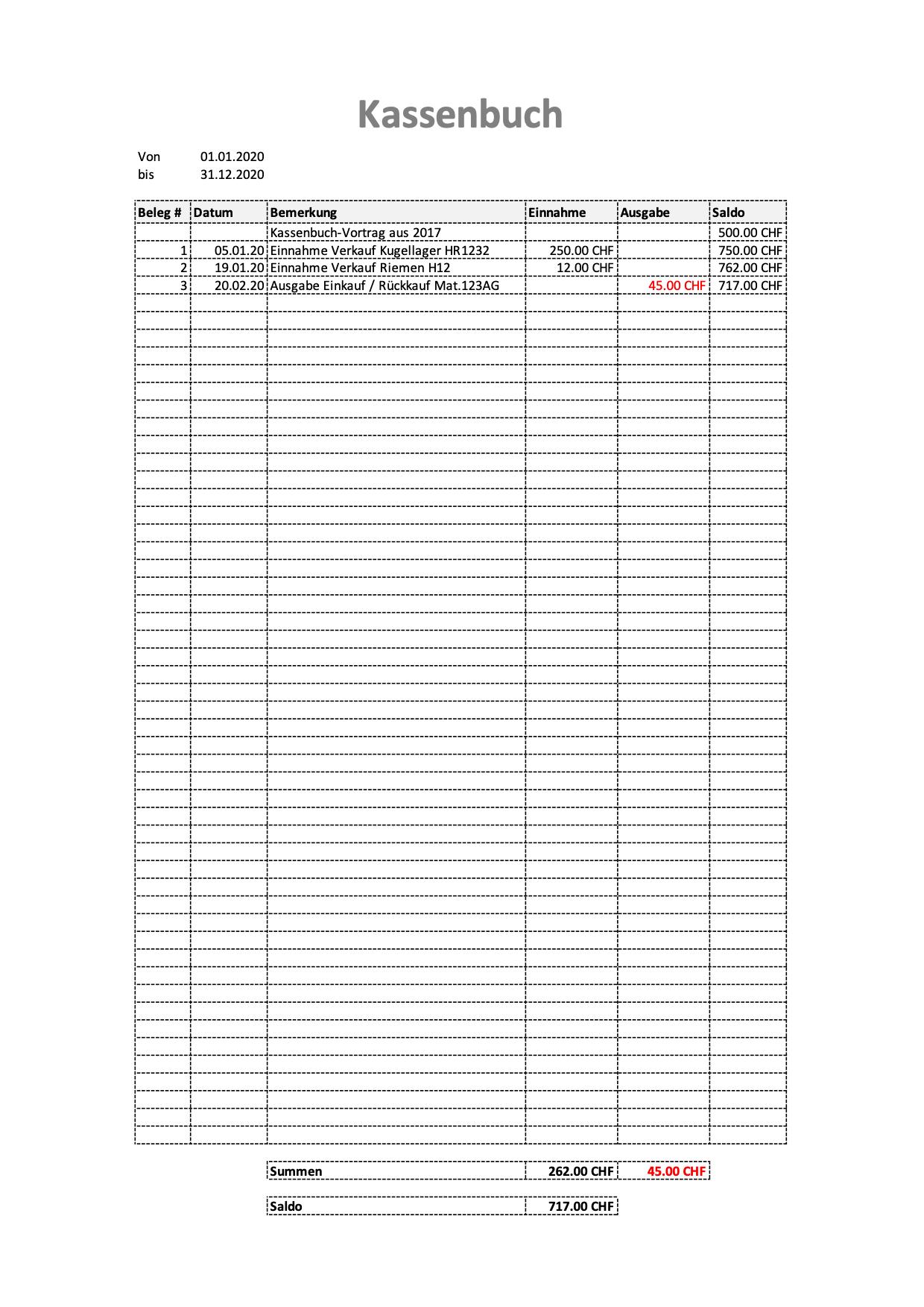 Das Ordnungsgemasse Kassenbuch So Geht S 12