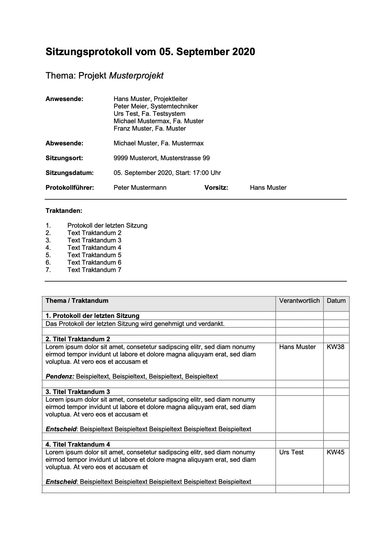 Protokoll Simultan Schreiben Formular Und